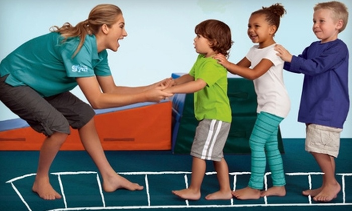 The Little Gym of Belmont - Belmont: $45 for Four Children's Classes and Annual Family Membership Fee at The Little Gym of Belmont ($129 Value)