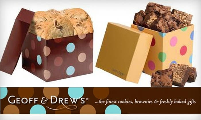 Geoff & Drew's - San Antonio: $12 for $25 Worth of Delicious Cookies and Brownies from Geoff & Drew's