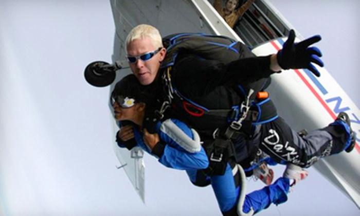 Skydive Hollister - Hollister: Tandem Skydive at 10,000 Feet for One or Two at Skydive Hollister (Up to 44% Off)