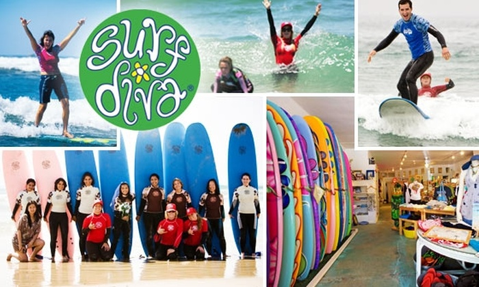 Surf Diva - La Jolla Shores: $30 for a Party Wave Group Surf Lesson with Surf Diva