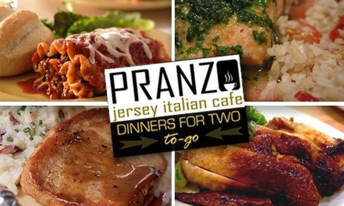 Pranzo Jersey Italian Café - Nashville-Davidson metropolitan government (balance): $8 for a Carryout Dinner for Two from Pranzo Jersey Italian Café ($16.33 Value)