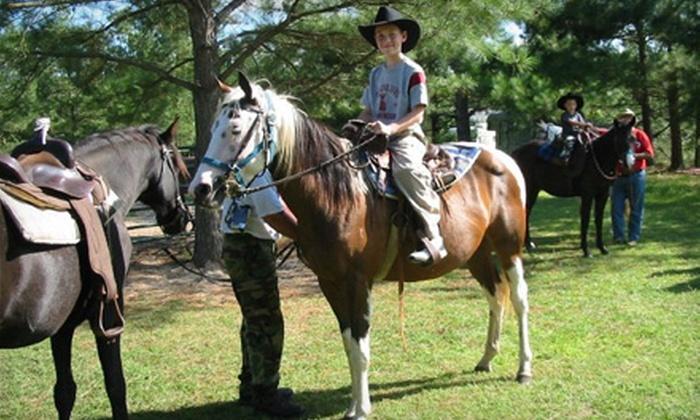 Bear Creek Stables - Ridgeway: $20 for a Horseback Trail Ride from Bear Creek Stables in Ridgeway ($40 Value)