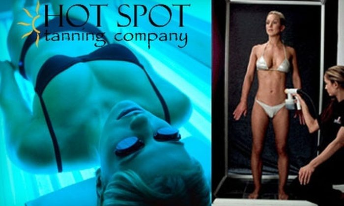 Hot Spot Tanning Company - Southwyck: Three Professional Spray Tans or Three Months of Unlimited Bed Tanning at Hot Spot Tanning Company. Choose from Two Options.