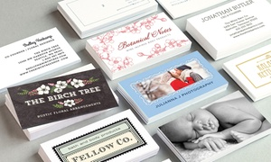 100, 250, Or 500 Premium Customized Business Cards From Evermine  (up To 67% Off)
