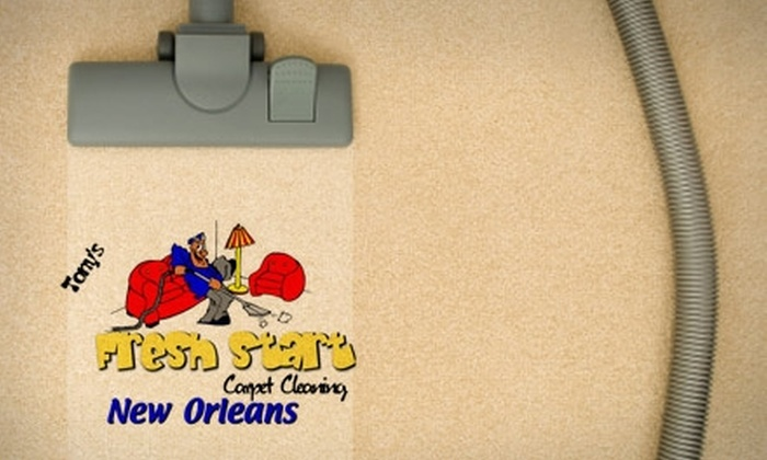 Tony's Fresh Start Carpet Cleaning - New Orleans: $40 for a Five-Room Carpet Cleaning and Quick Dry from Tony's Fresh Start Carpet Cleaning