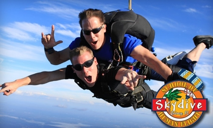 The School of Human Flight - Quincy: $145 for a Tandem Skydive from The School of Human Flight ($239 Value)