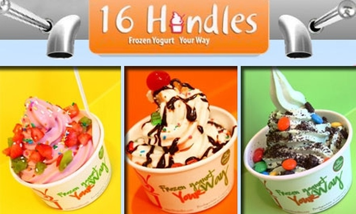 16 Handles - East Village: $8 for $16 Worth of Non-Fat Frozen Yogurt and Tasty Toppings at 16 Handles