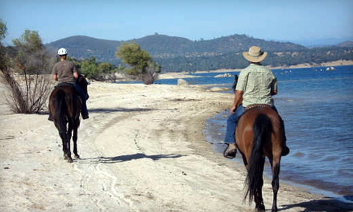 Boarding on the Lake - Granite Bay: Two-Hour Horseback Ride and Picnic or Two-Hour Moonlit Ride from Boarding on the Lake in Granite Bay