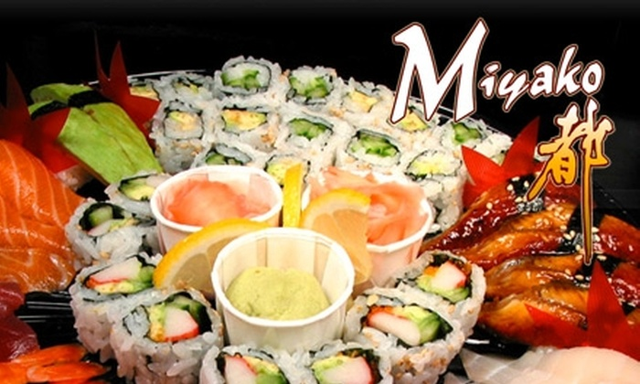 Miyako Sushi Bar & Hibachi  - Central City: $30 for $60 Worth of Japanese Fare and Drinks at Miyako Sushi Bar & Hibachi