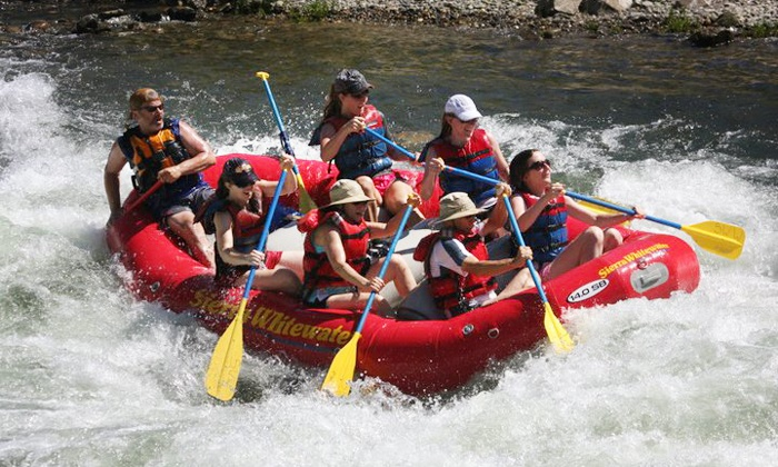 Sierra Whitewater Rafting - Camp Lotus: 10.5-Mile Upper or Lower South-Fork Rafting Trip from Sierra Whitewater (Up to 50% Off)