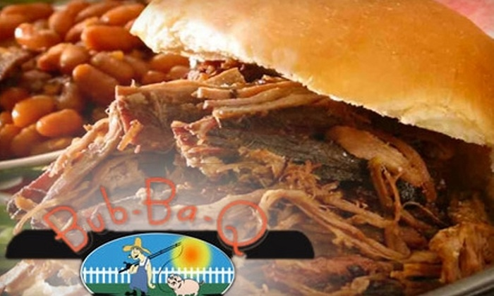 Bub-Ba-Q - Multiple Locations: $7 for $15 Worth of Barbecue, Burgers, and Beverages at Bub-Ba-Q
