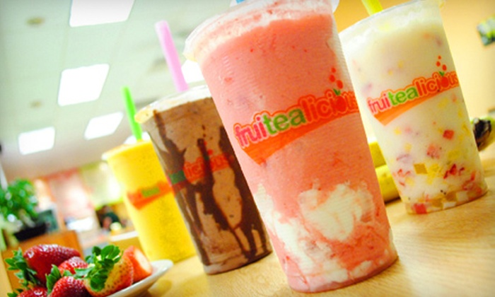 Fruitealicious - Southwest Carrollton: $5 for $10 Worth of Smoothies, Bubble Tea, and Snacks at Fruitealicious in Carrrollton