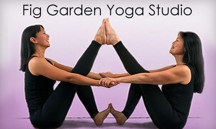 Fig Garden Yoga Studio - Bullard: $15 for Three Yoga Classes at Fig Garden Yoga Studio