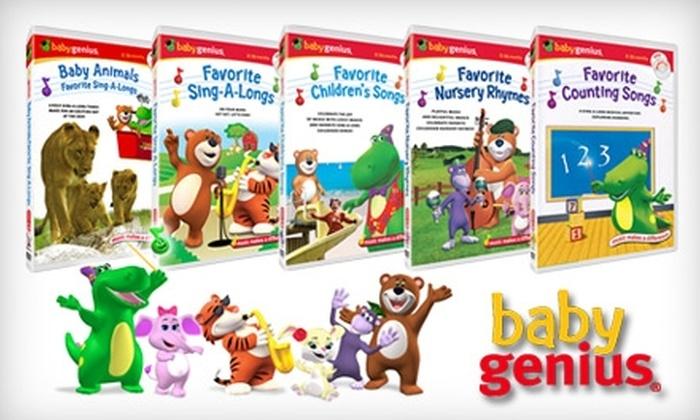 Baby Genius: $25 for Five Baby Genius DVDs and Five Bonus CDs