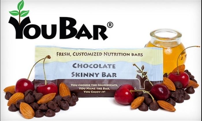 You Bar : $12 for $25 Worth of Custom Nutrition Bars, Shakes, Trail Mix, and, More from You Bar