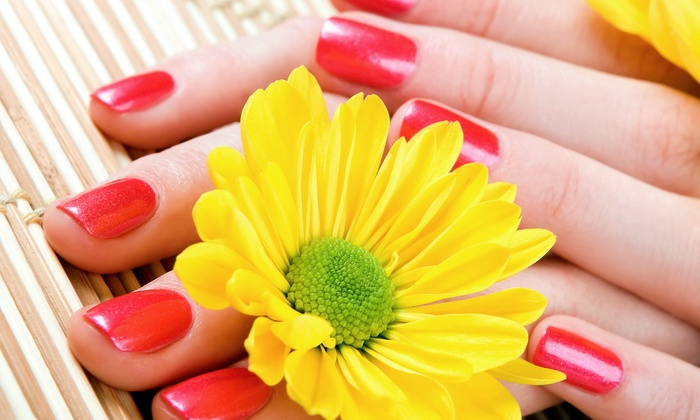 Beauty at Hand - Hunter's Ridge Shopping Center: OPI Axxium Gel Manicure, Spa Pedicure, or Both at Beauty at Hand (Up to 48% Off)