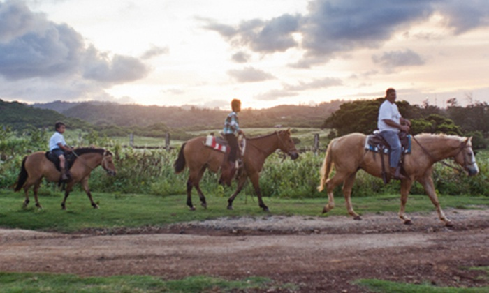 Gunstock Ranch - Koolauloa: Horseback Trail Ride or Sunset Trail Ride, or a Pony and Pool Party at Gunstock Ranch (Up to 56% Off)
