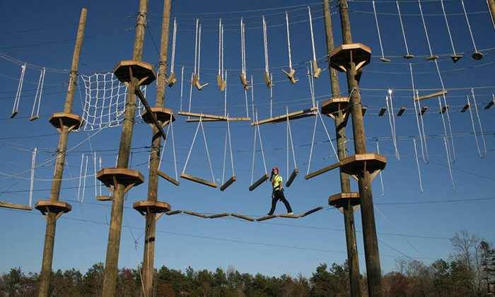 Kersey Valley High Ropes Course - Jamestown: Two-Hour High-Ropes Course for One or Four at Kersey Valley High Ropes Course (Up to 49% Off)