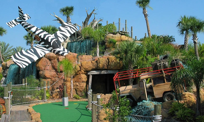 Congo River Adventure Golf - Congo River Golf Daytona Beach: Round of Mini Golf and Gator Food for Two or Four at Congo River Golf (Up to 50% Off)