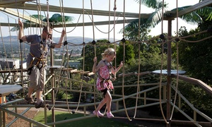 Golf Attractions: High Rope Course with Optional Jurassic Golf for Four People or a Family at Golf Attractions (Up to 60% Off)