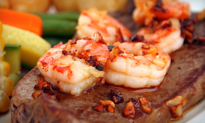 The Silver Flame - Tulsa: Steak and Shrimp Dinner for Two or Four at The Silver Flame (Up to 51% Off)