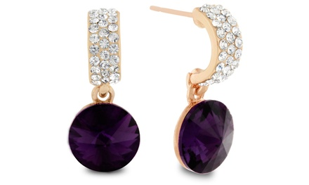 Amethyst Earrings with Swarovski Elements