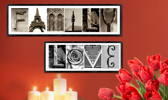 "Custom Letter Art and the Word ""Love"": 7 Custom Letters and the Word ""Love"" from Imagine Letters"