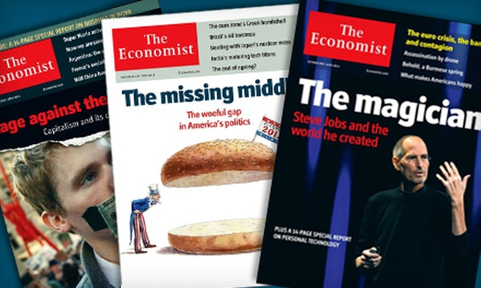 """""""The Economist"""": 51 Issues of """"The Economist"""" or 2012 Wall Calendar from """"The Economist"""" (Up to 43% Off)"""