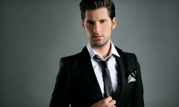 The Place For Men - Calgary: Shirt, Suit, and Tie Package or $199 for $399 Worth of Suits at The Place For Men