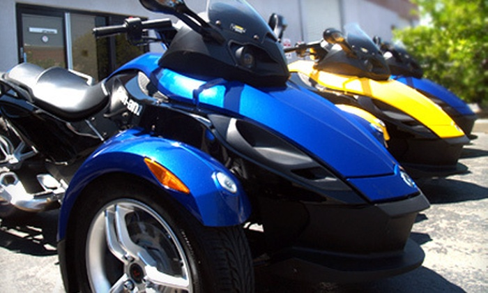 Recreational Rentals Inc. - Florin Fruitridge Industrial Park: All-Day Weekday or Weekend Can-Am Spyder Rental from Recreational Rentals Inc. (Up to 51% Off)