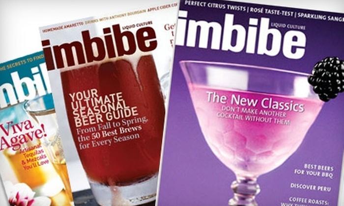 """Imbibe Magazine - San Francisco: $10 for One-Year Subscription to """"Imbibe"""" Magazine ($20 Value)"""