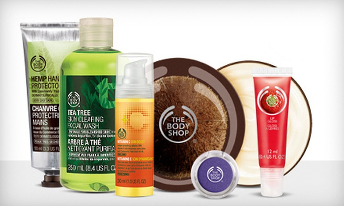 The Body Shop - North Jersey: $10 for $20 Worth of Natural Skincare, Makeup, Hair, and Body Products at The Body Shop