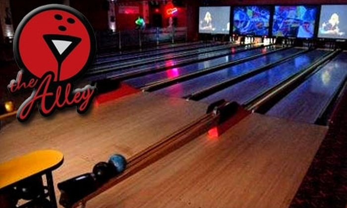 The Alley - Highwood: $25 for One Hour of Unlimited Bowling with Shoe Rental for Up to Four People, Plus a 12-Inch Pizza and Pitcher of Soda at The Alley in Highwood