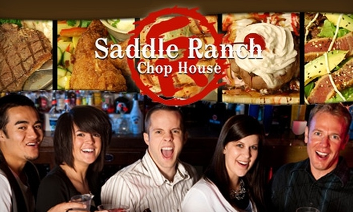Saddle Ranch Chop House - Multiple Locations: $15 for $30 Worth of Modern American Fare and Drinks at Saddle Ranch Chop House