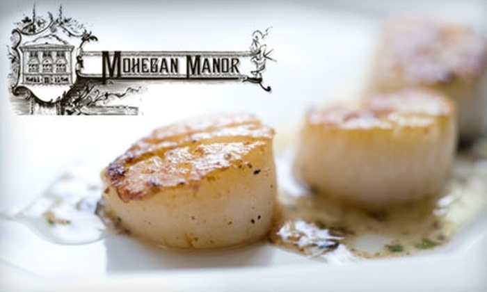 Mohegan Manor - Baldwinsville: $20 for $40 Worth of Upscale Eats at The Restaurant at Mohegan Manor