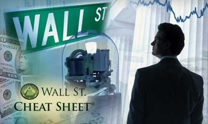 """""""Wall St. Cheat Sheet Premium Newsletter"""": $39 for a One-Year Subscription to the """"Wall St. Cheat Sheet Premium Newsletter"""""""