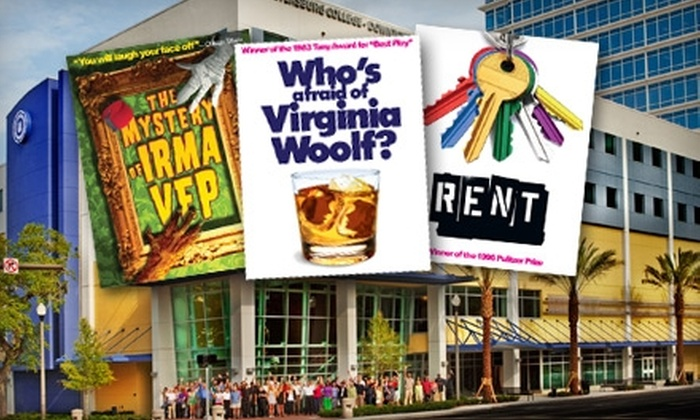 """American Stage Theatre Company - Tampa Bay Area: Ticket to """"Who's Afraid of Virginia Woolf"""" from American Stage Theatre Company at Raymond James Theatre. Five Options Available."""