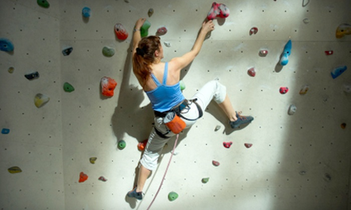 Inside Moves Indoor Rock Climbing - Cutlerville: First-Time Rock-Climbing Package for One or Two at Inside Moves Indoor Rock Climbing in Byron Center