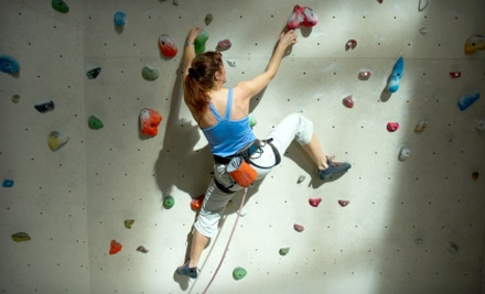 Inside Moves Indoor Rock Climbing: First-Time Climbing Package for 1 - Inside Moves Indoor Rock Climbing in Byron Center