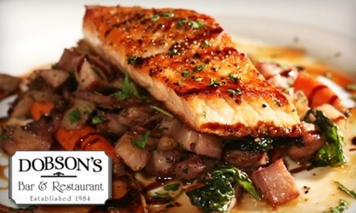 Dobson's Bar & Restaurant - Horton Plaza: $25 for $50 Worth of Upscale Cuisine and Drinks at Dobson's Bar & Restaurant
