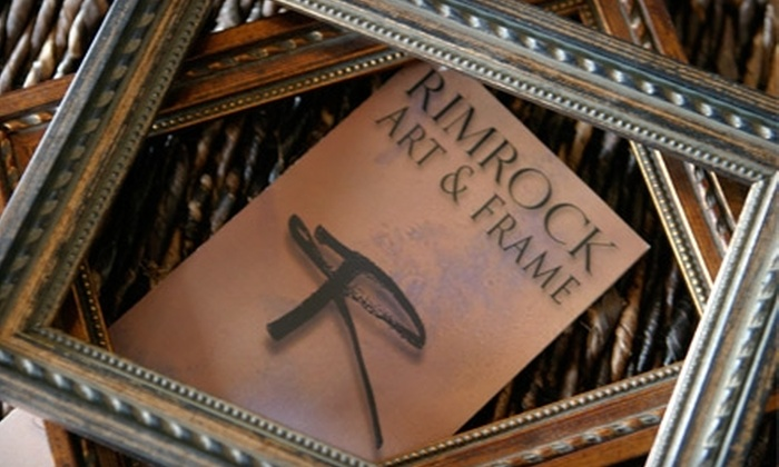 null - Billings: $48 for $100 Worth of Custom Framing at Rimrock Art and Frame