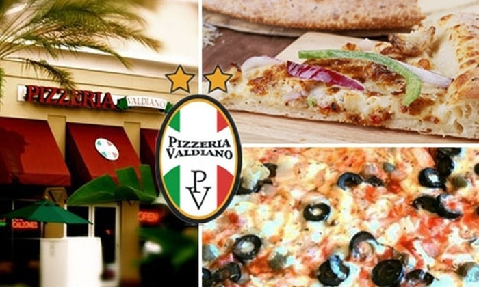 Pizzeria Valdiano - Multiple Locations: $10 for $20 Worth of Food and Drink at Pizzeria Valdiano