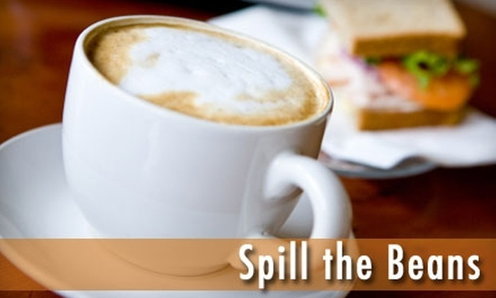 Spill the Beans - Falls Park: $5 for $10 Worth of Coffee, Ice Cream, and More at Spill the Beans