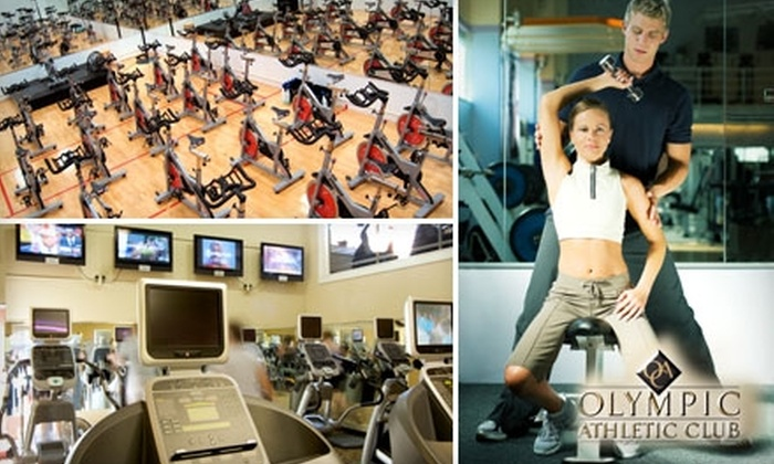 Olympic Athletic Club - Adams: $25 for a One-Month Gym Membership, Two Personal-Training Sessions, and Unlimited Tanning at Olympic Athletic Club ($255 Value)