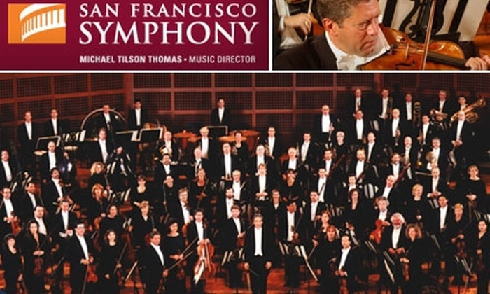 San Francisco Symphony - Civic Center: $41 for an Orchestra-Seat Ticket to The San Francisco Symphony at Davies Symphony Hall ($82 Value). Buy Here for Orchestra Seating on Friday, January 15, at 8 p.m. Click Below for First-Tier Seating.