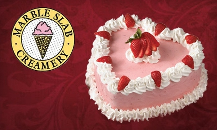 Marble Slab Creamery - Hancock: $14 for a Large Ice-Cream Cake or 15 Chocolate-Covered Strawberries at Marble Slab Creamery