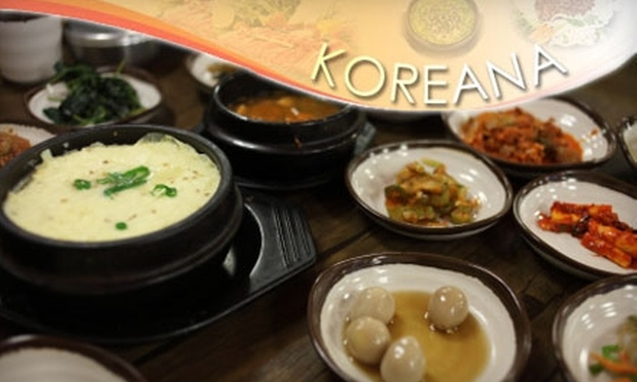 Koreana - Multiple Locations: $15 for $30 Worth of Korean Barbecue and Sushi at Koreana