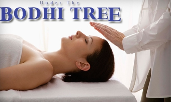 Under The Bodhi Tree Wellness Center - Ardmore / Sherwood Forest: $15 for 30-Minute Reiki Session ($40 Value) or $29 for 30-Minute Massage with a 15-Minute Peppermint Foot Scrub ($65 Value) at Under The Bodhi Tree Wellness Center