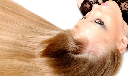 Keratin Express Blow Out or Keratin Complex Smoothing Treatment at Ruffled Feathers Studio (Up to 68% Off)