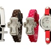 Cross Watches with Silicone or Wrap Bracelet